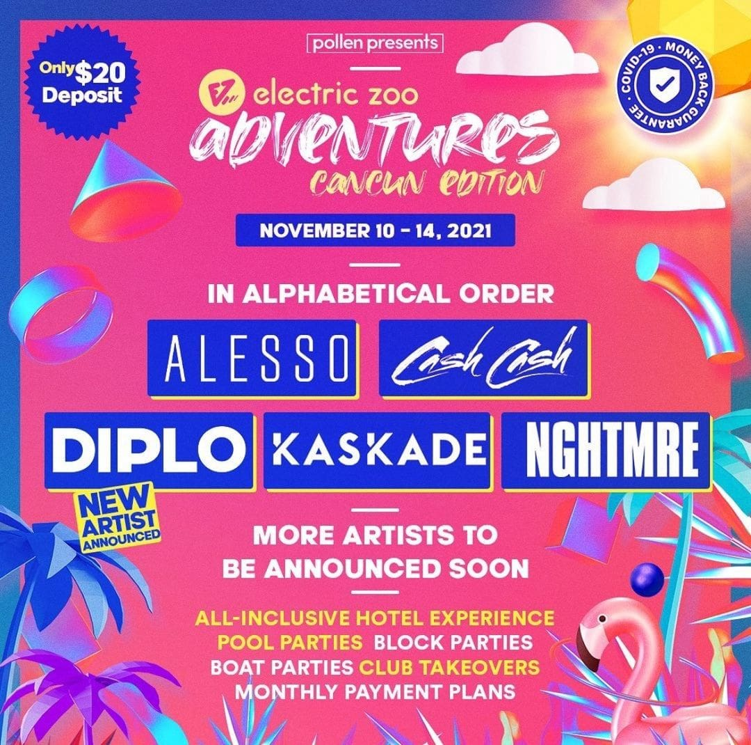Electric Zoo Cancun 2021 moves to November